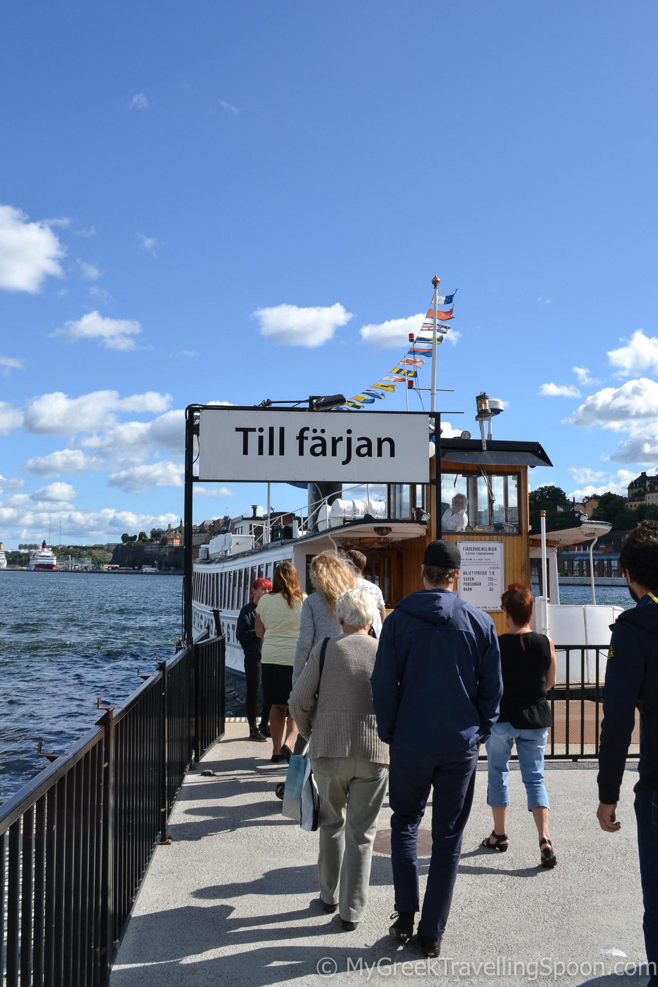 Fjäderholmarna islands are just half an hour boat trip away.