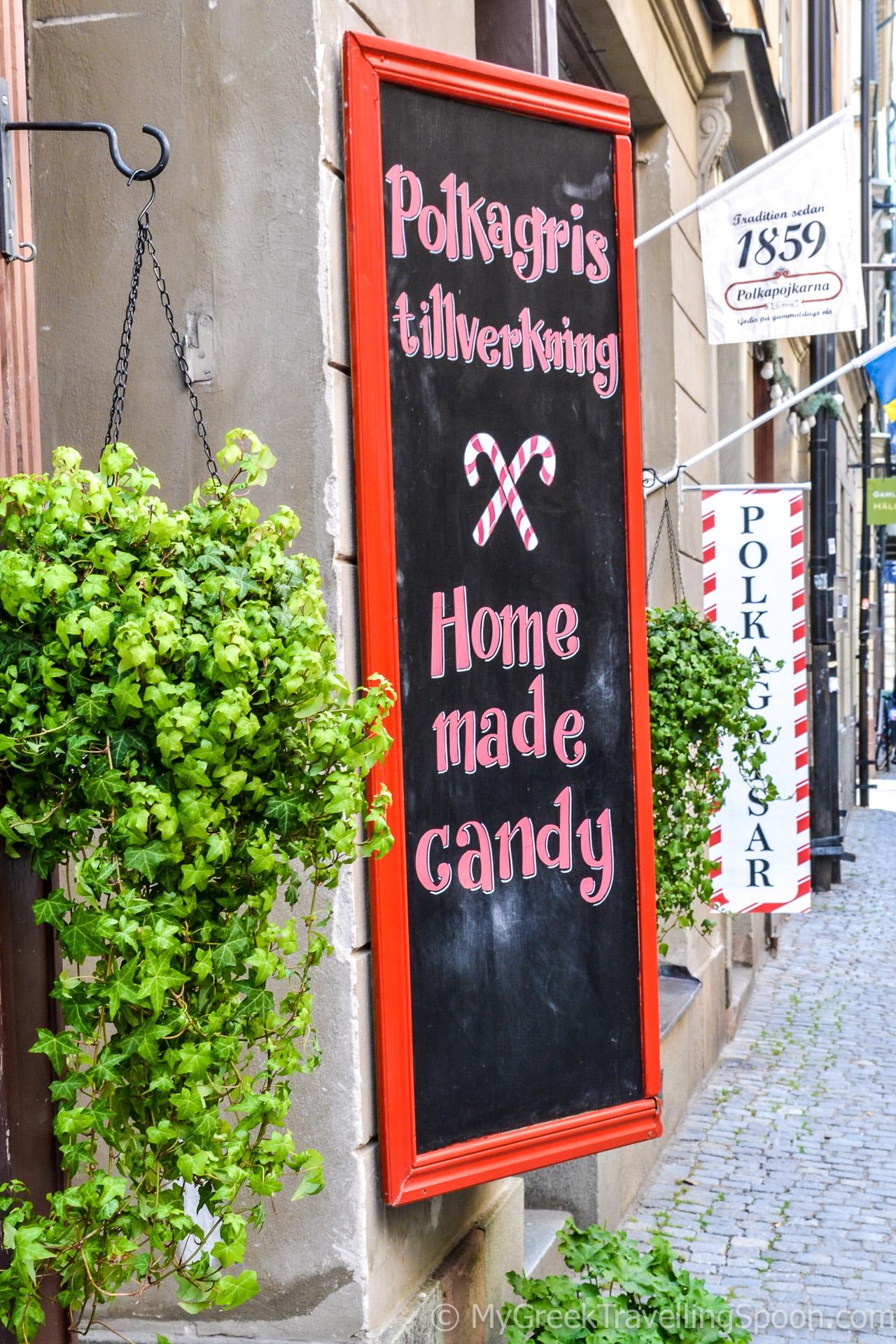 The fairy-tale caramel shop Polkagris.