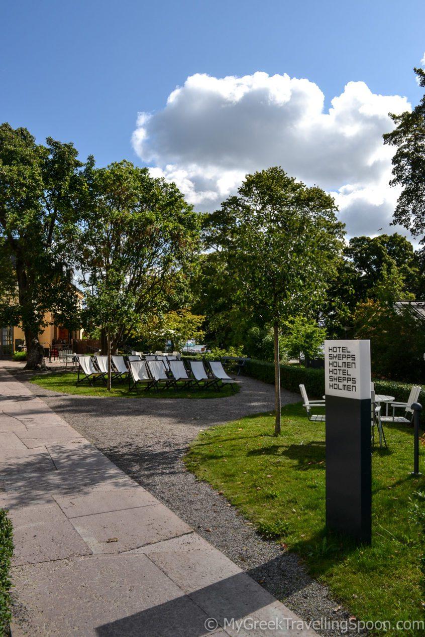 The Skeppsholmen hotel has a lovely terrace.