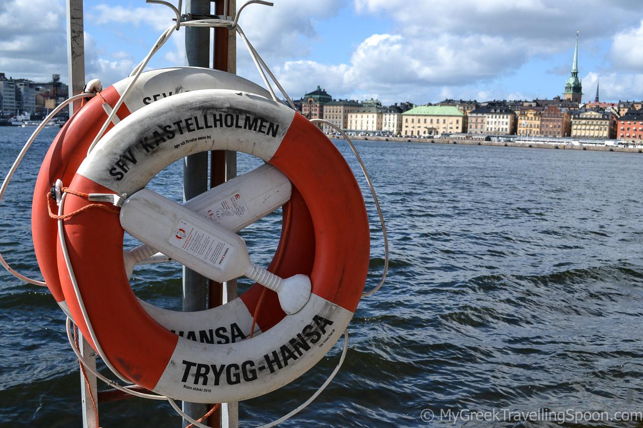 Strolling around the tiny island of Skeppsholmen.