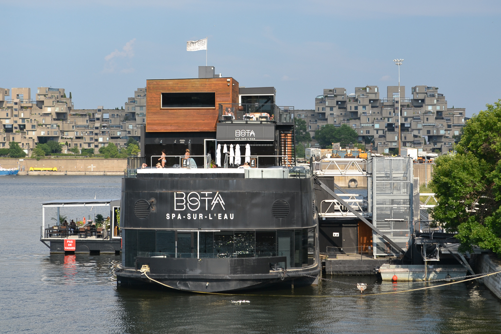 Bota Bota, a river ferry which has been converted to a floating spa